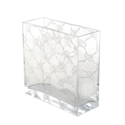 JOOP! Allover Vase Rechteckig 20x8x20 cm Kristallglas handgefertigt cornflower