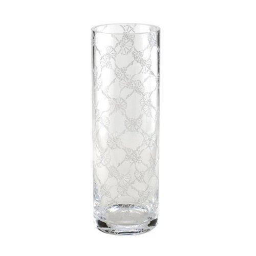 JOOP! Allover Vase Rund 30x10 cm Kristallglas handgefertigt cornflower