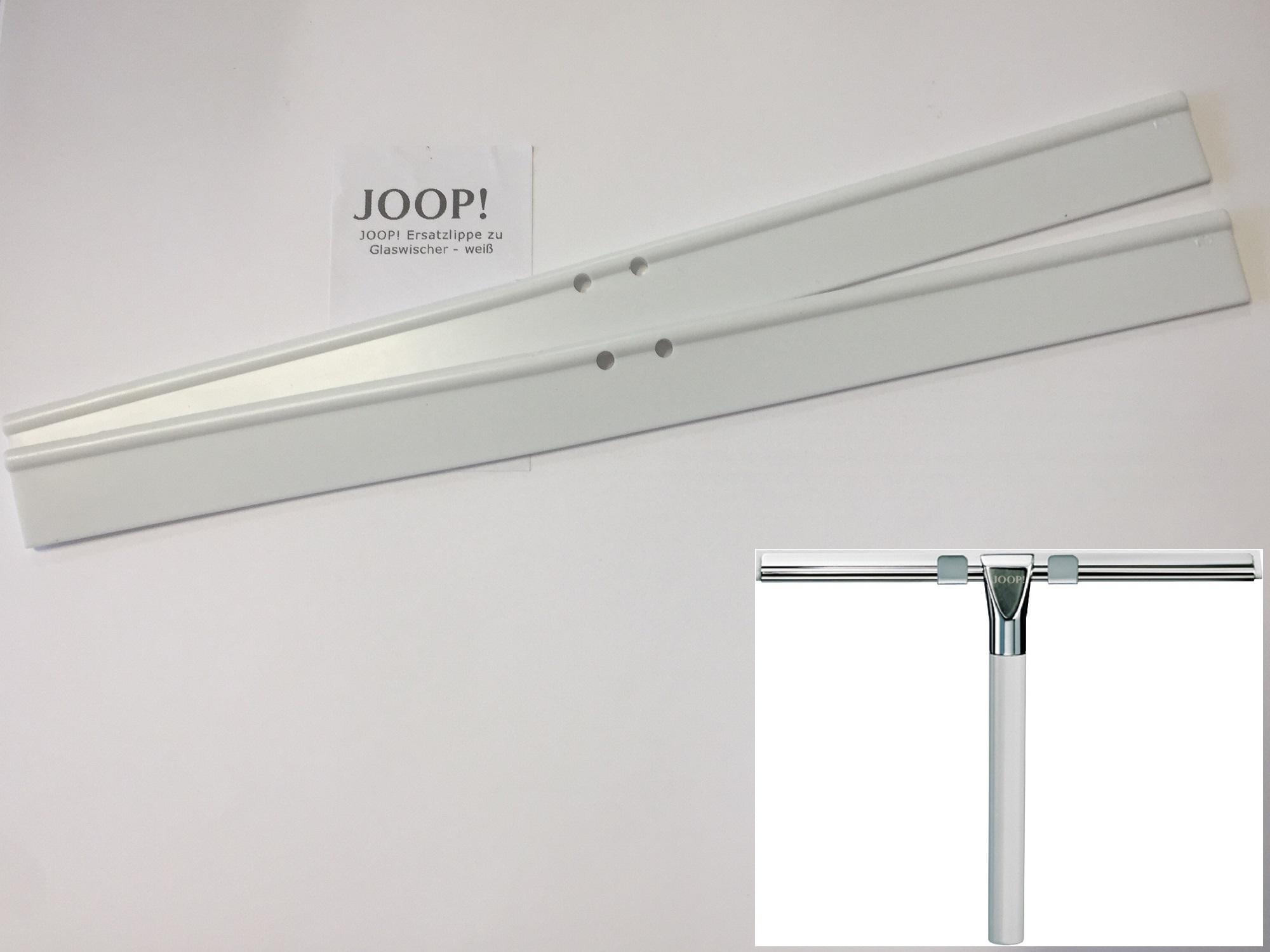 JOOP! Ersatzlippe zu Glaswischer weiß 2 Stück