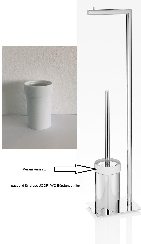 JOOP! 1x Ersatz Keramikeinsatz für Chromeline WC Bürstengarnitur