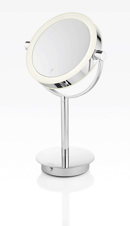 JOOP! Chromeline Stand Kosmetikspiegel LED beleuchtet edler Luxus LOOK 10920000