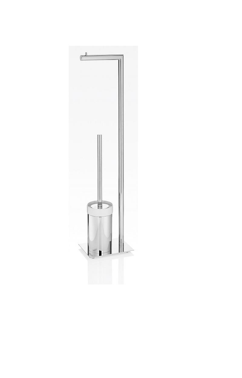 JOOP! Chromeline WC Bürstenkombination Keramikeinsatz weiß und Papierhalter