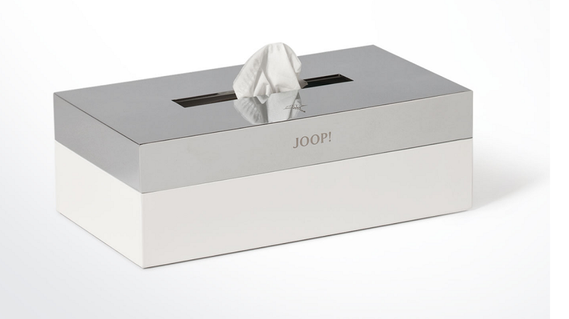 JOOP! Chromeline Kosmetiktuch Kleenexbox 010070010 silber/weisss super chic!