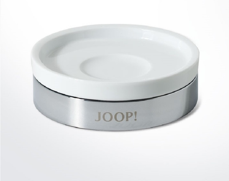 JOOP! Chromeline Seifenschale Chrom 010010010 weiss Keramik sehr chic NEU!