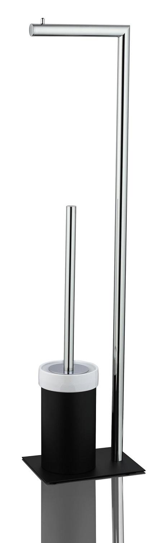 JOOP! Chromeline Black freistehende WC Bürstenkombination mit Papierhalter 10310011 schwarz lackiert