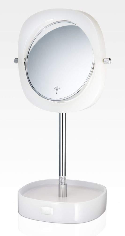JOOP! Crystal Line Kosmetikspiegel Weiß 011571410 5-fach/1-fach Vergrößerung