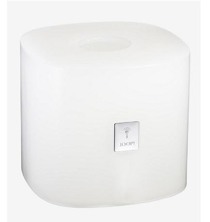 JOOP! Crystal Line Papiertuchbox Weiß 011531410 mit Logo Plakette