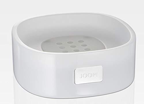 JOOP! Crystal Line Seifenschale Weiß 011561410 mit Logo Plakette