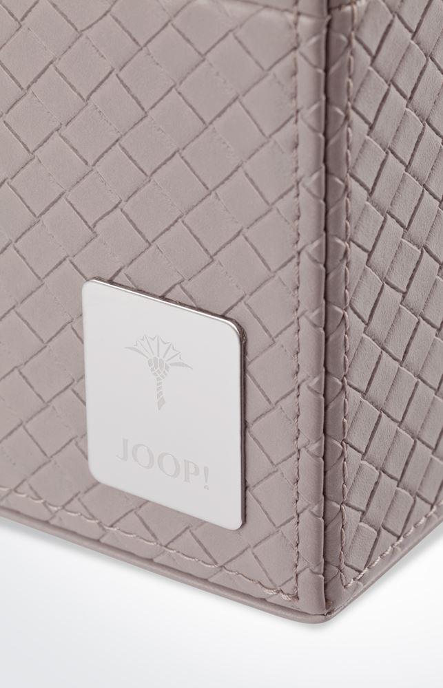 joop bathline papierkorb leder optik grau 10980413 modern klassisch neu. Black Bedroom Furniture Sets. Home Design Ideas