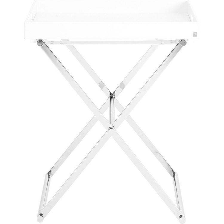 joop homeline beistelltisch klappbar mit tablett xl weiss 011290010 neu ebay. Black Bedroom Furniture Sets. Home Design Ideas
