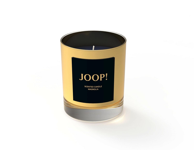 JOOP! feine Duftkerze Magnolia ca. 30h Brenndauer ca. 190 g im Glas goldfarben