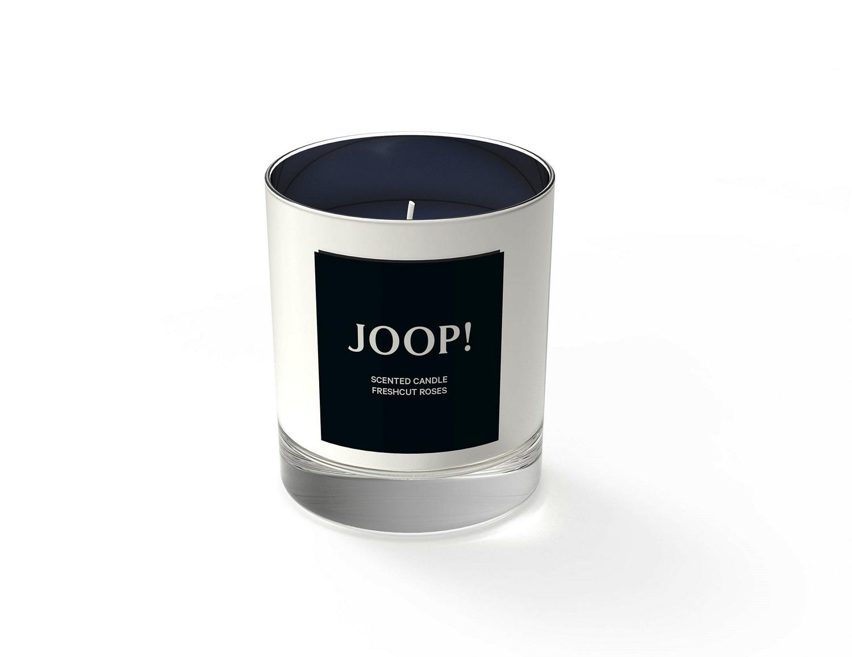 JOOP! feine Duftkerze Rose ca. 30h Brenndauer ca. 190 g im Glas silberfarben