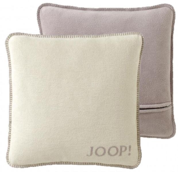 JOOP! Kissen uni-doubleface weiche Fleece Qualität ca.50x50 Silberrose 675446