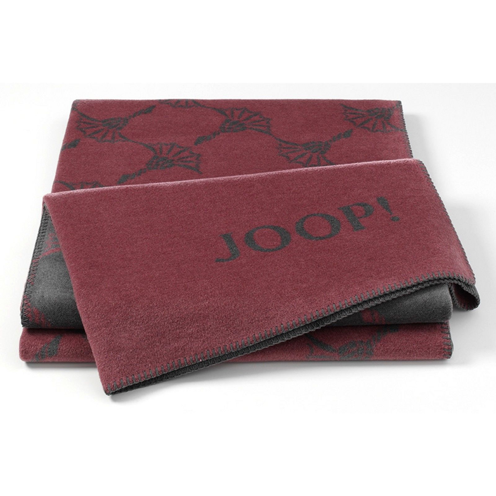 JOOP! New Cornflower Wohndecke 150x200 Baumwollmischung 716477 Rouge-Schiefer