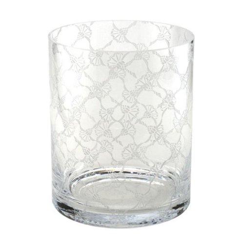 JOOP! Allover Vase Rund 22x18 cm Kristallglas handgefertigt cornflower