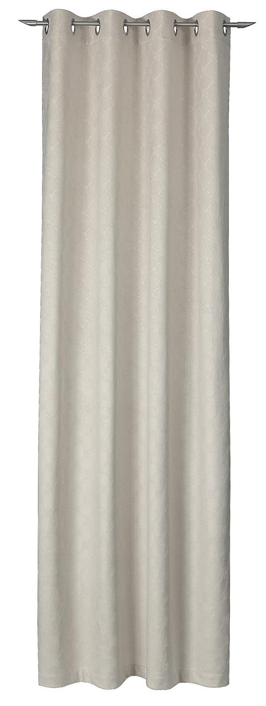 JOOP! 1x Fertig-Vorhang Emboss 70291-030 beige 140x250 cm Dekoschal