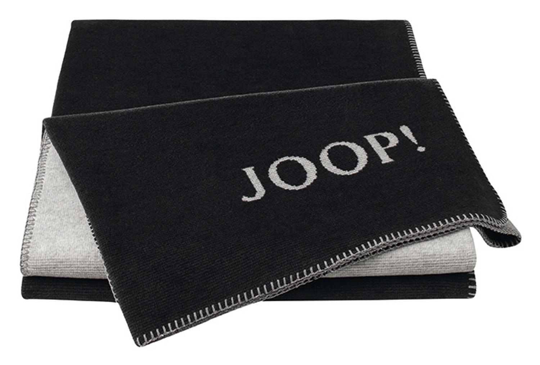 JOOP! Melange Doubleface Wohn- Kuscheldecke 150x200 Anthrazit.-Silber 706218