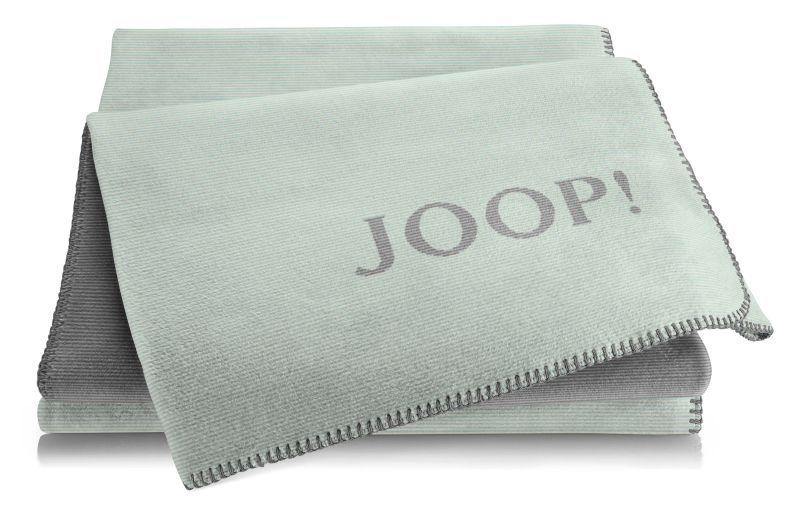 JOOP! Melange Doubleface Wohn-Kuscheldecke  150x200 Mint-Schiefer 732217
