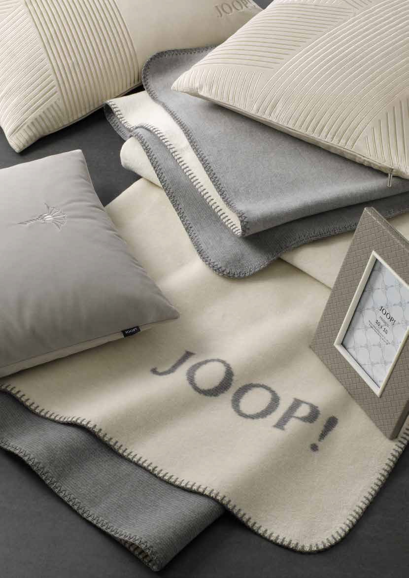 JOOP! Melange Doubleface Wohn- Kuscheldecke 150x200 Natur-Silber 706232