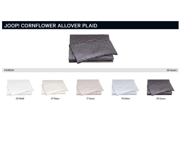 Joop! Plaid 4020 Cornflower Allover 100% Baumwolle 150x210 cm