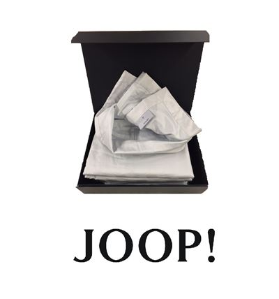 Joop! Plaid Cornflower Allover 100% Baumwolle 150x210 cm 4020 19 Silber