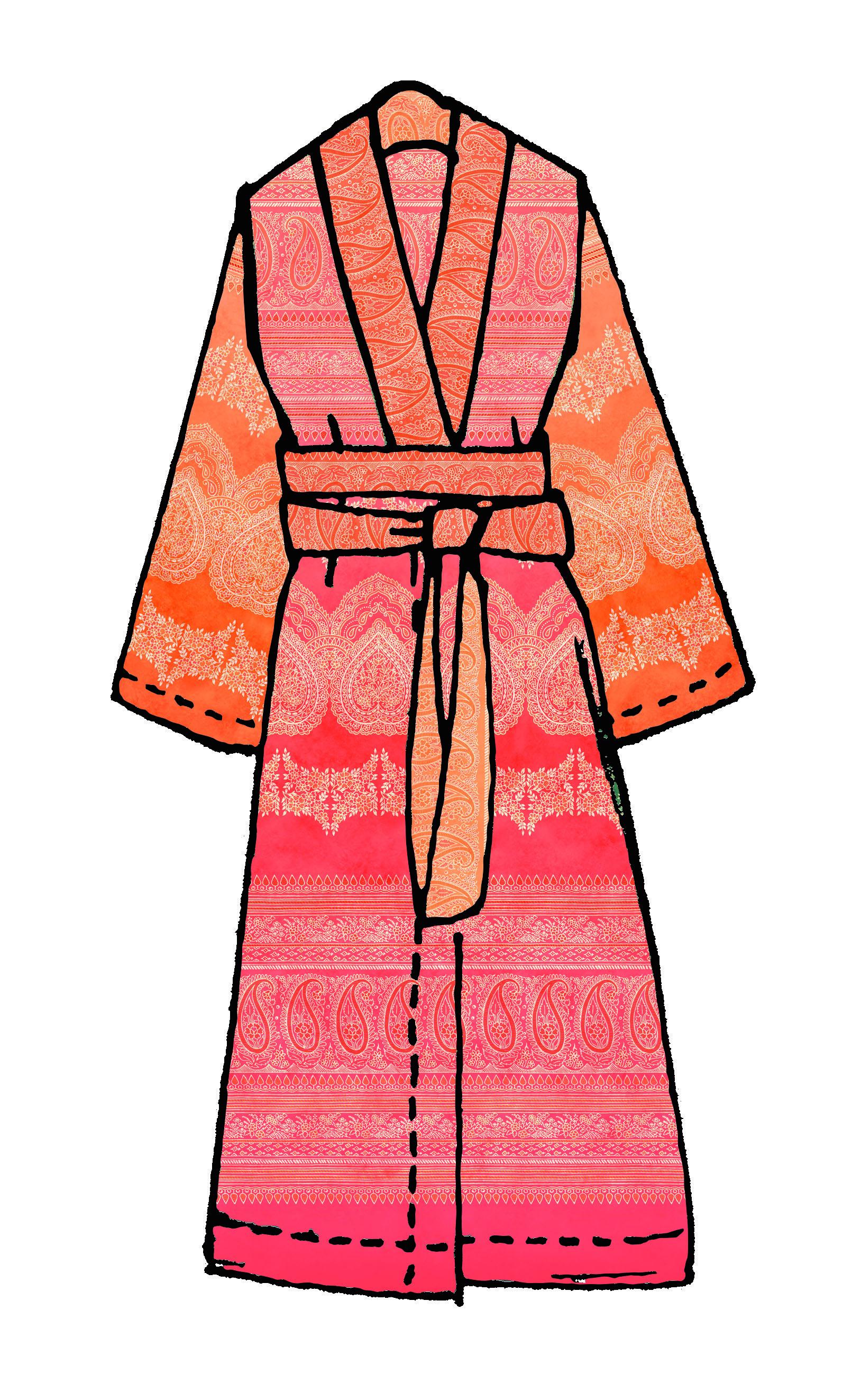 bassetti Kimono Brunelleschi X1-32990 Orange Coralle Größe S/M
