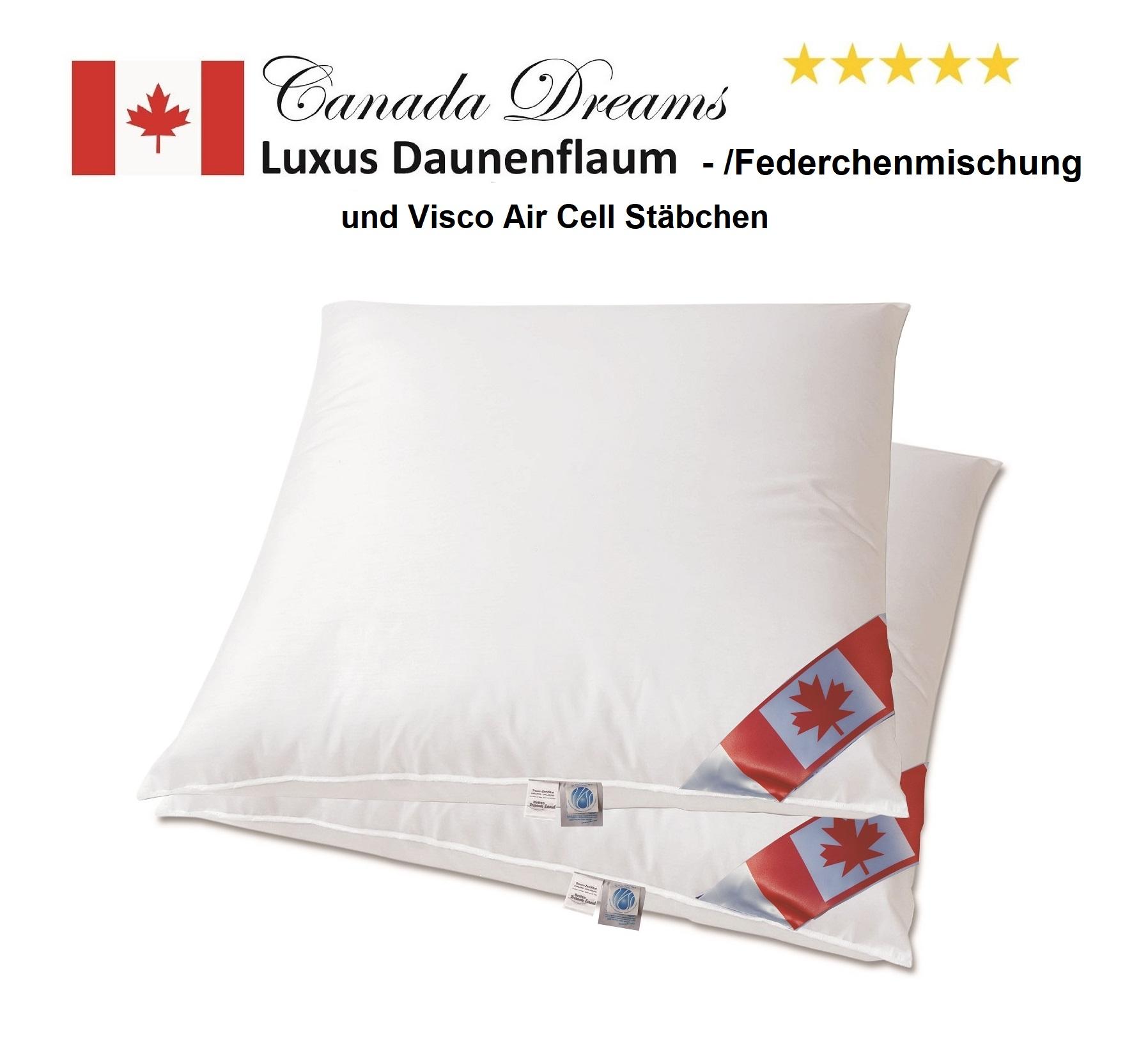Set Angebot 2 Air Cell Pure Classic Kissen 80x80 cm 900 g 80% Federn/Daune 20% Air Cell