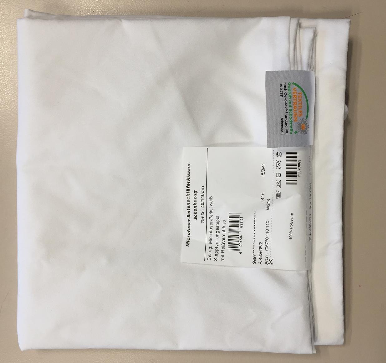 Garanta Seitenschläferkissenbezug Microfaser 40x140 cm Weiß