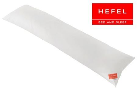 HEFEL Seitenschläferkissen Zirbe 160x35 cm 100% Wolle und Zirbe