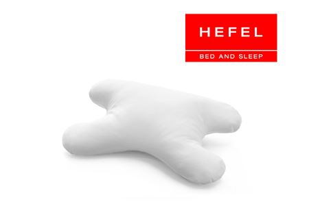 HEFEL MyFace Kopfkissen Bauchschläfer Nackenstützkissen 40x60 cm mit Bezug