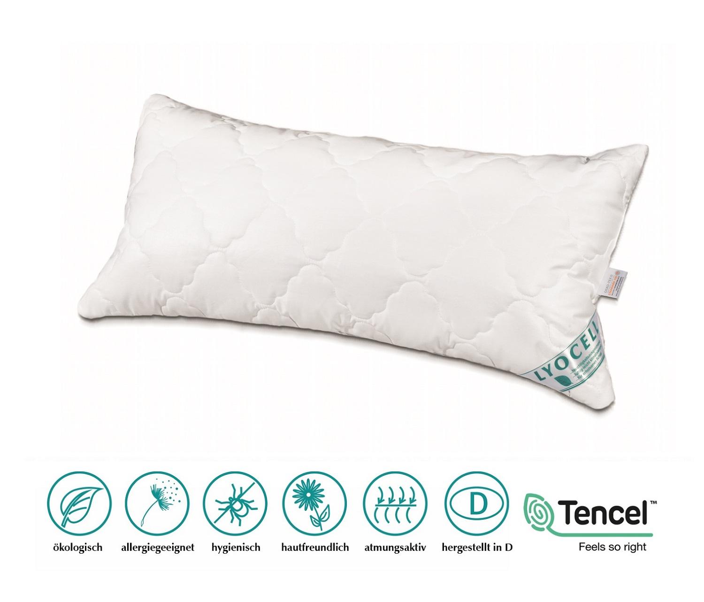 Neuheit Lyocell/Tencel Kissen 40x80 cm 400 g optimale Klimaregulierung