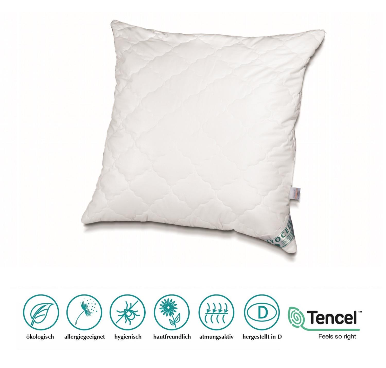 Neuheit Lyocell/Tencel Kissen 80x80 cm 800 g optimale Klimaregulierung