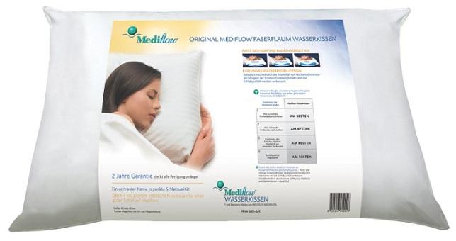Mediflow Wasserkissen 5005 50x70 cm weiß Schlafkissen Baumwollbezug