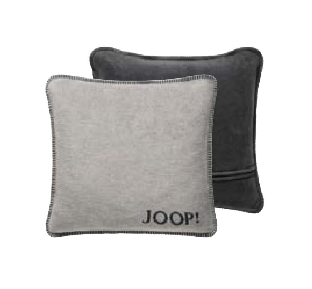 JOOP! Kissenhülle Uni-Doubleface 739469 Fleece Qualität 50x50 Ash-Anthrazit