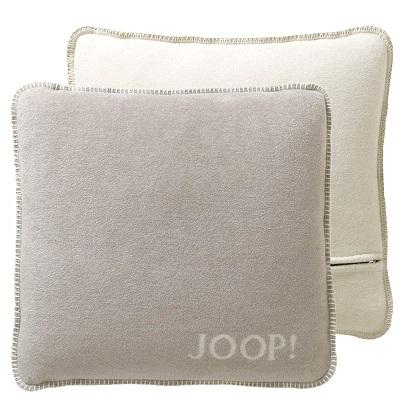 JOOP! Kissenhülle Uni-Doubleface weiche Fleece Qualität 50x50 Feder-Ecu
