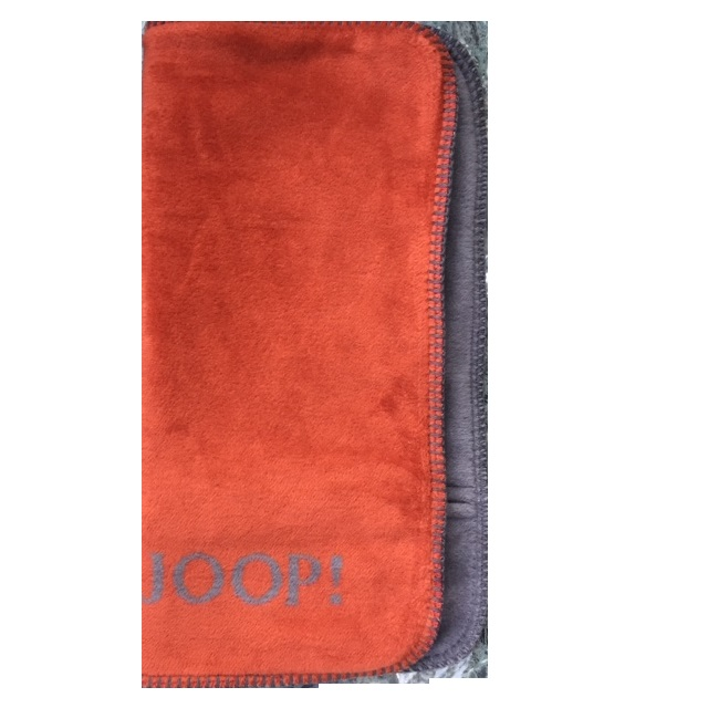 JOOP! Kissenhülle Uni-Doubleface 751607 Rooibos-Graphit Fleece Qualität 50x50 cm