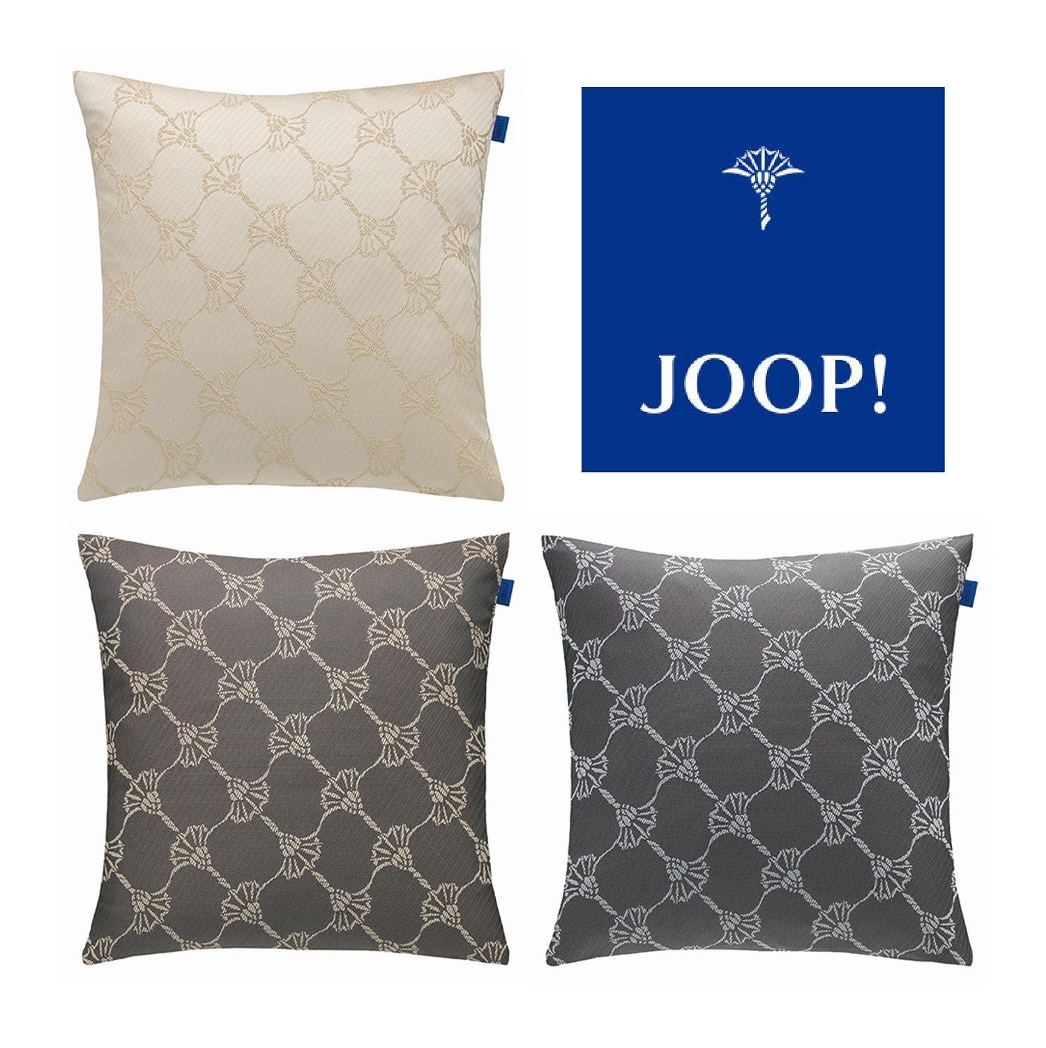 JOOP! Kissenhülle HABIT Cornflower allover Webstruktur 40x40