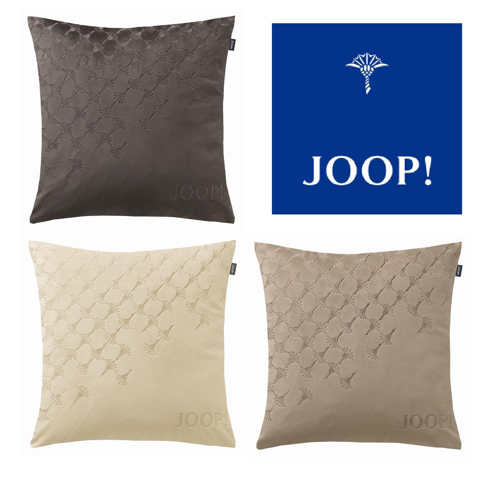 JOOP! Kissenhülle SIGN samtig weich dekorative Stickerei