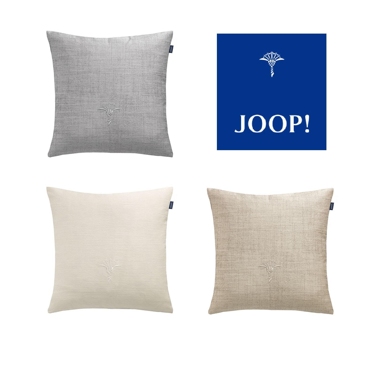 JOOP! Kissenhülle TEXTURE ohne Füllung schöne Logo Stickerei 40x40 cm