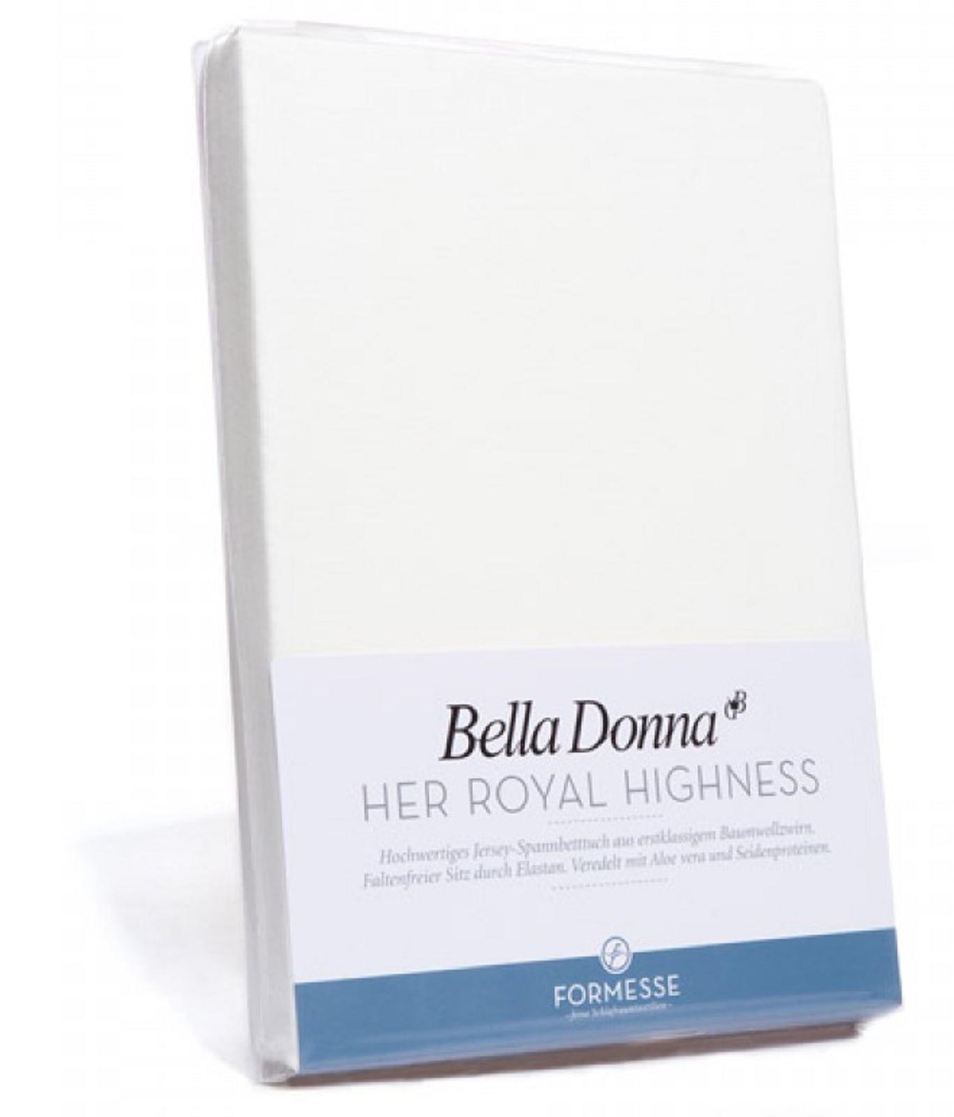Bella Donna Jersey Spannbetttuch 1B Ware 180/200 x 200/220 cm Wollweiß 0114