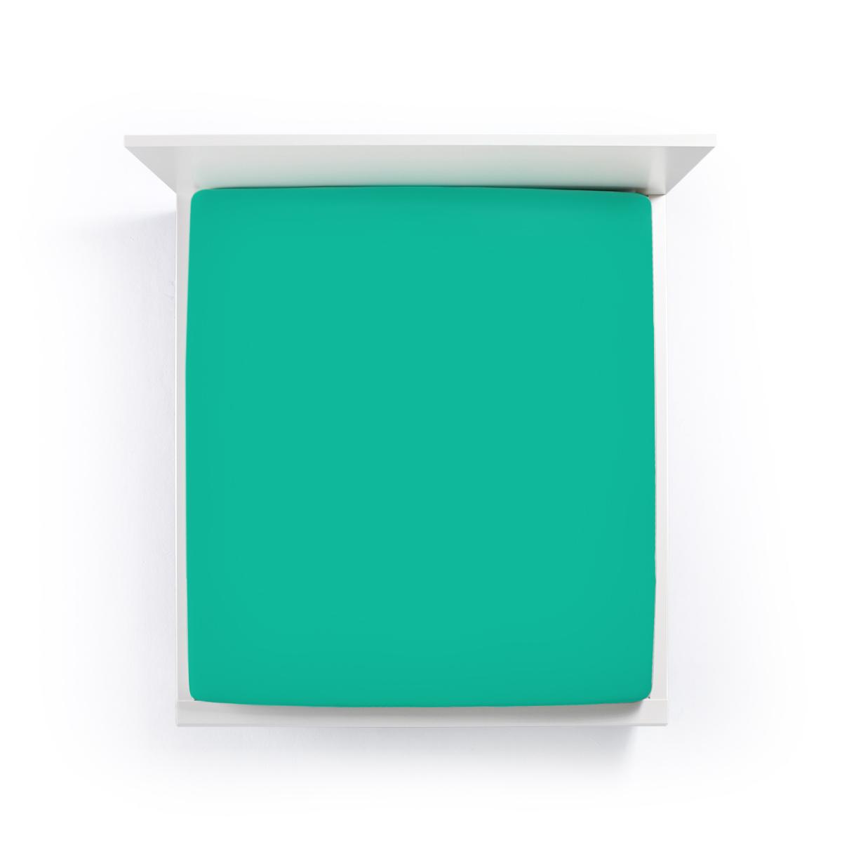 Formesse Bella Donna Jersey Spannbetttuch 90/190x100/220 cm 0639 Aquamarine
