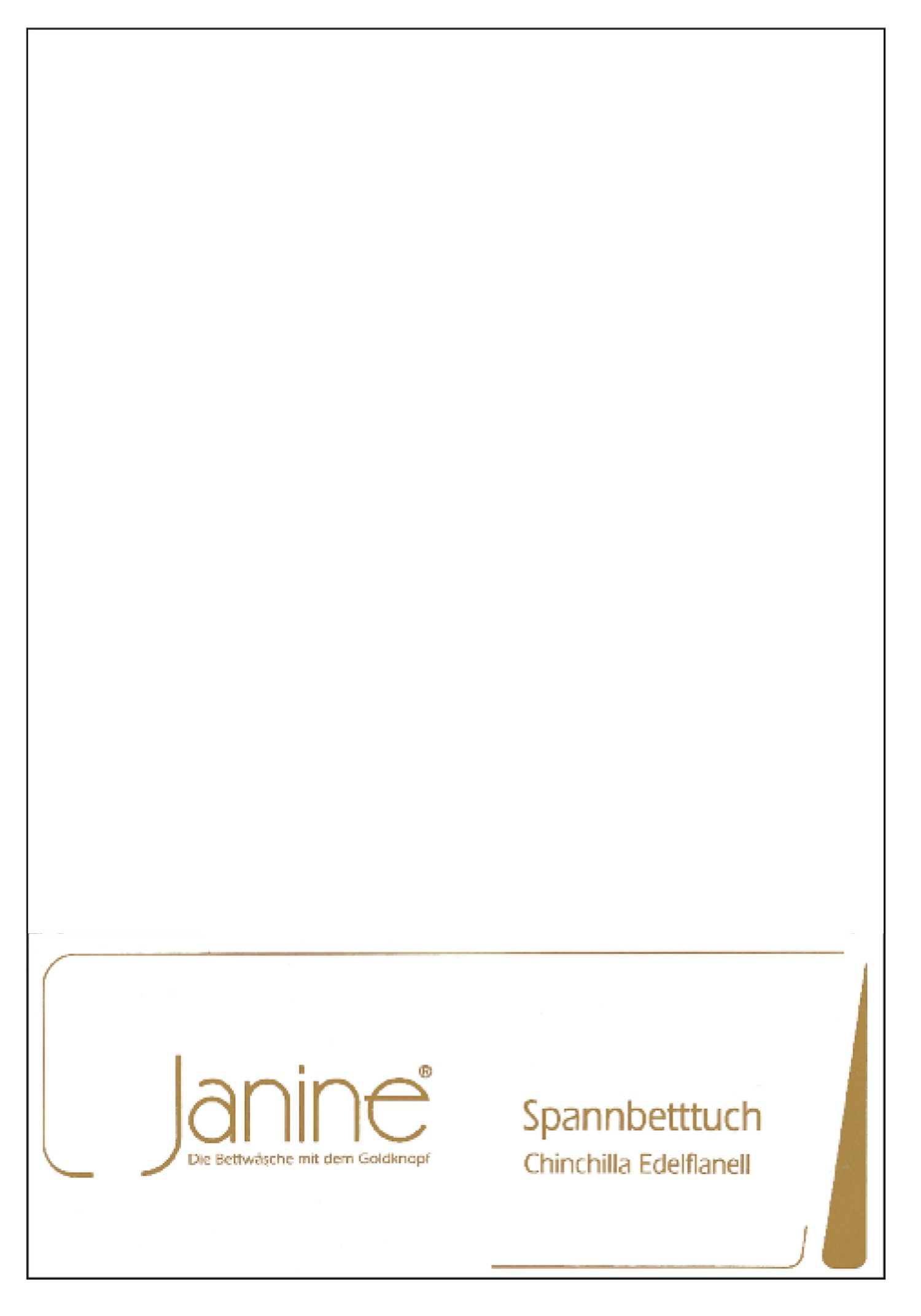 Janine Spannbetttuch Chinchilla 90x200 cm 7000-10 Edelflanell 100% Baumwolle mit Rundumgummi