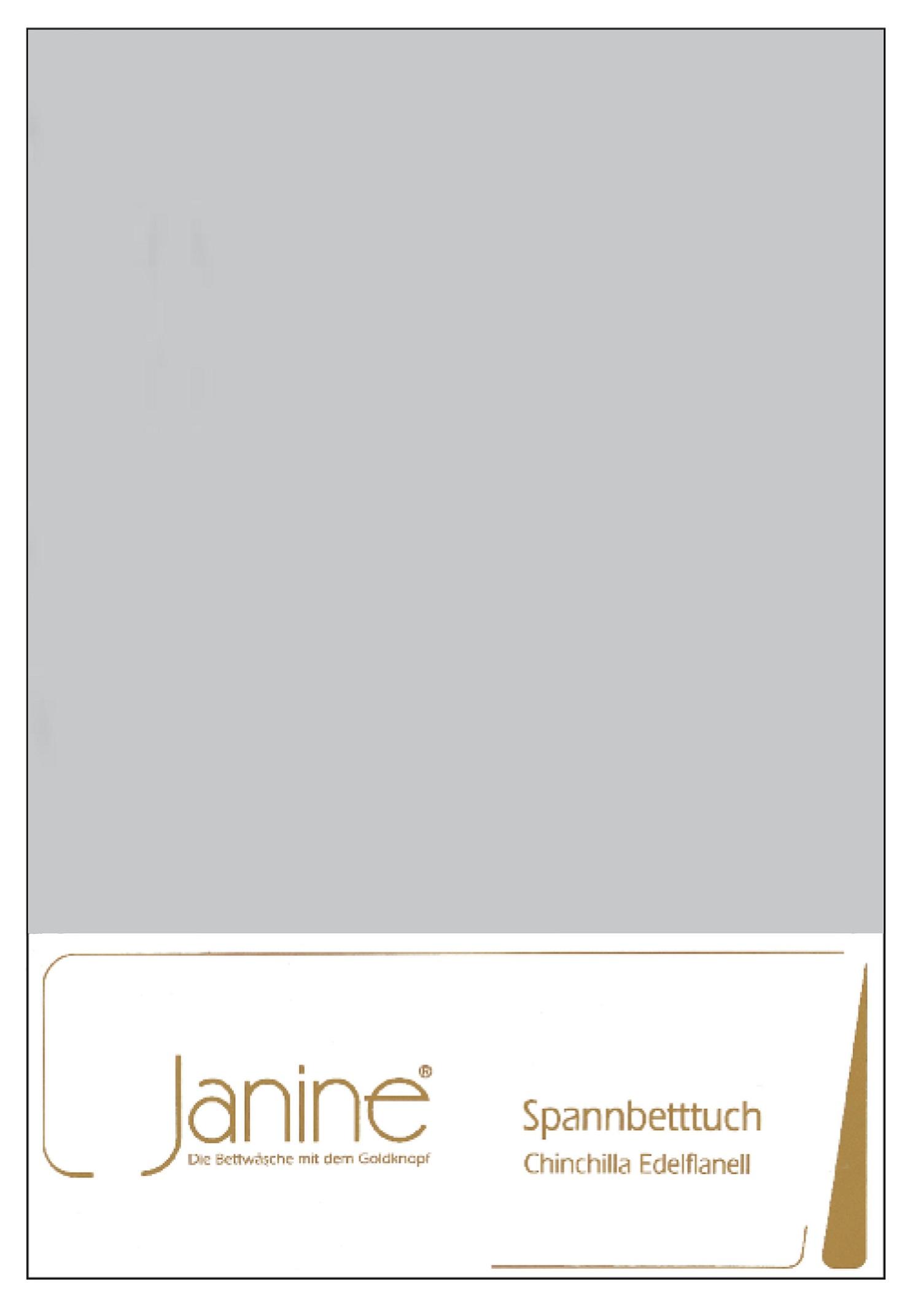 Janine Spannbetttuch Chinchilla 90x200 cm 7000-18 Grau Edelflanell 100% Baumwolle mit Rundumgummi