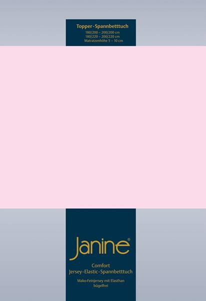Janine Jersey Elastic Spannbetttuch für Topper Matratzen ideale Passform 11 zartrosa