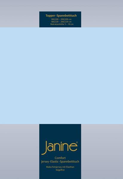 Janine Jersey Elastic Spannbetttuch für Topper Matratzen ideale Passform 12 hellblau
