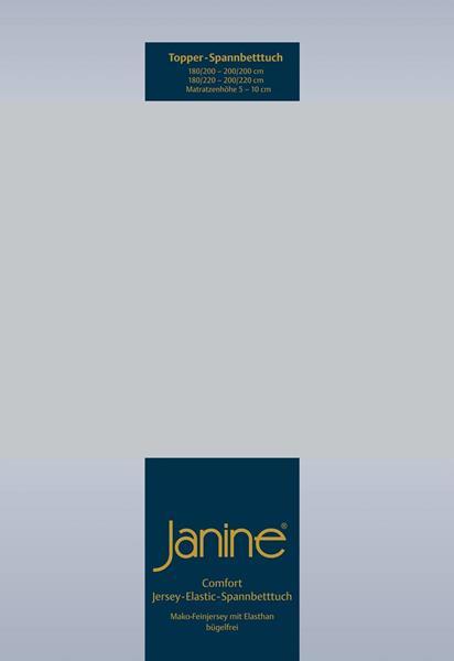 Janine Jersey Elastic Spannbetttuch für Topper Matratzen ideale Passform 18 silber