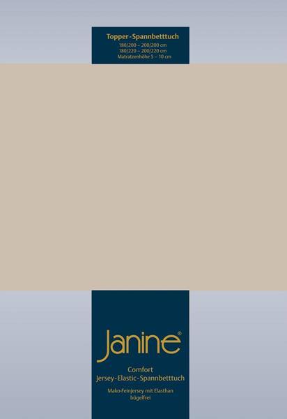 Janine Jersey Elastic Spannbetttuch für Topper Matratzen ideale Passform 21 altrose
