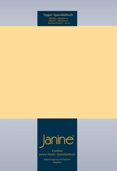 Janine Jersey Elastic Spannbetttuch für Topper Matratzen ideale Passform 23 vanille