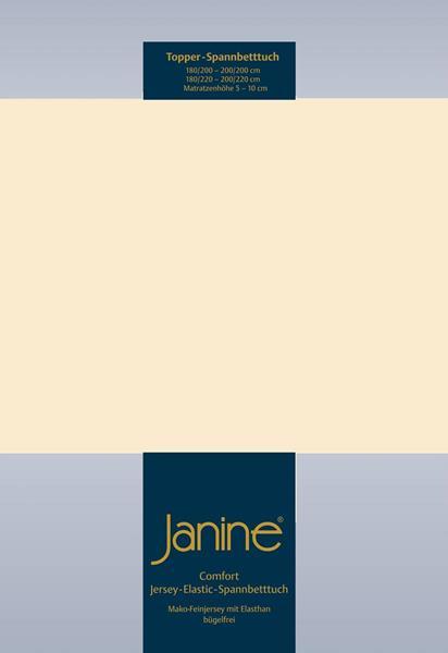Janine Jersey Elastic Spannbetttuch für Topper Matratzen ideale Passform 27 leinen