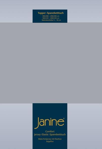 Janine Jersey Elastic Spannbetttuch für Topper Matratzen ideale Passform 28 platin